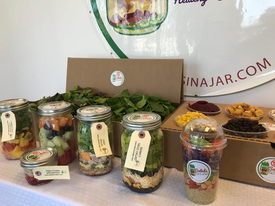 Many of the ingredients in Salads in a Jar are organic.