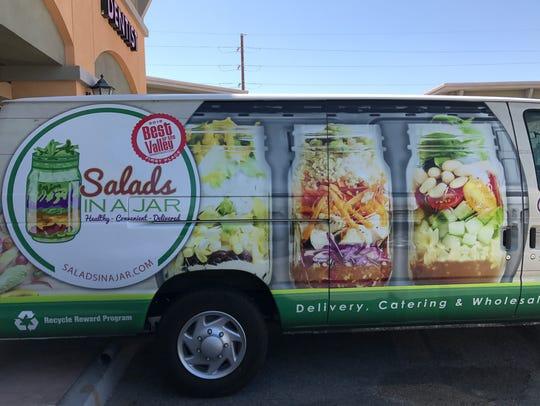 Salads in a Jar owner Kevin Steadman delivers orders