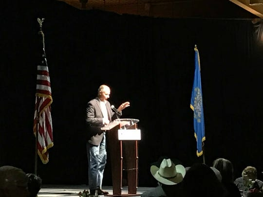 U.S House candidate Tim Bjorkman spoke with Democrats Saturday in Sioux Falls.