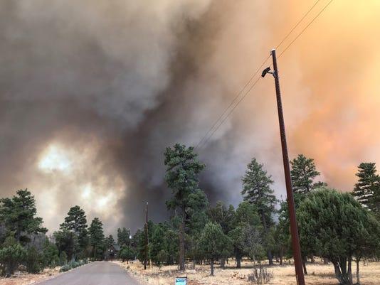 Tinder Fire in Arizona