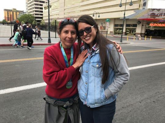 Ramona Sanchez and her daughter, Steph Sanchez, 17,