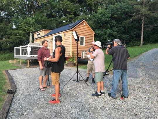 """Sarah and Chris Carson are featured on a recent episode of HGTV's """"House Hunters"""" where they look for their perfect tiny house in Pocomoke City. Courtesy of Sarah and Chris Carson, Wanderous Life"""