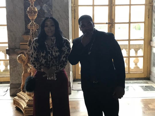 Michigan grad assistant and former linebacker, James Ross, proposed to his now fiancée, Omnielle Jordan, inside the Palace of Versailles on Monday, April 30, 2018