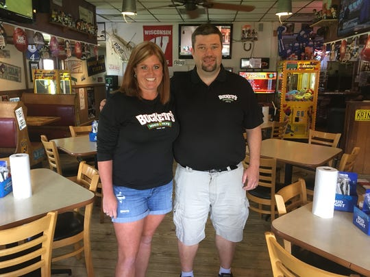 Ainslie and Zach Walter bought Buckett's Wings & More in 2014.