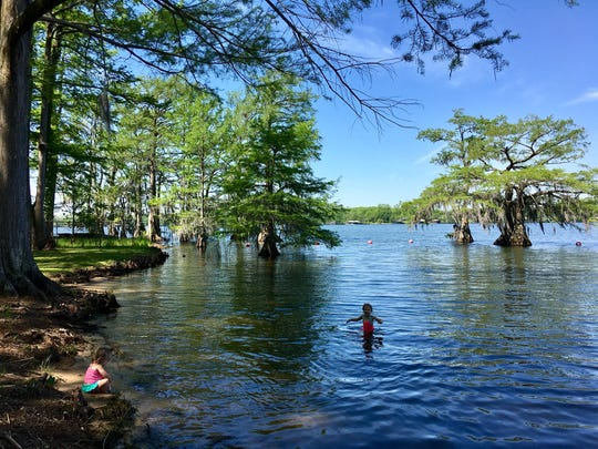 Louisiana state parks and museums set to welcome visitors Friday under phase one of the governor's reopening plan. Children swim at Lake Bruin State Park in St. Joseph.