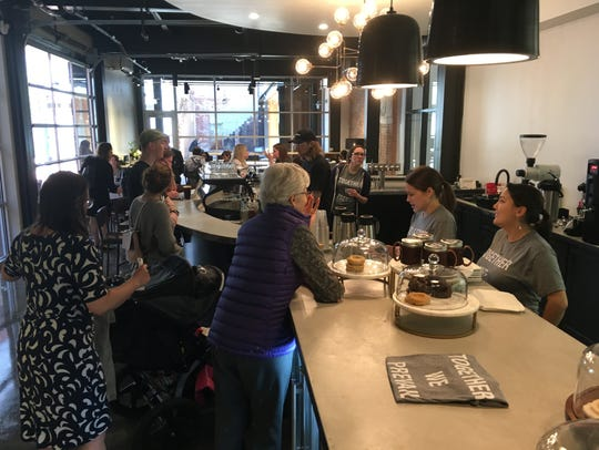 Prevail Union opened its new coffeehouse Friday inside