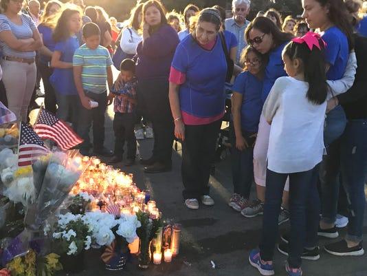 Fallen Nogales Police Officer vigil