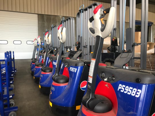New pallet jacks line up at the Hurricane satellite