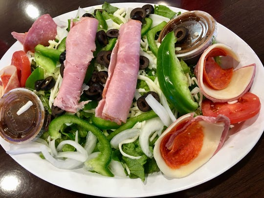 The antipasto salad at Genna Pizza fresh salad included