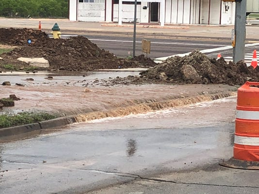 Barnett Road flooded due to water main break