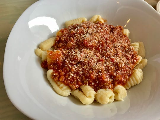 Hand-made gnocchi in Bolognese sauce from Sicily Trattoria