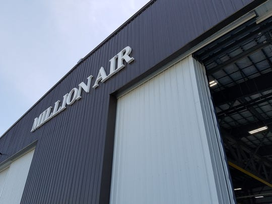 The Million Air hangar at Westchester County Airport