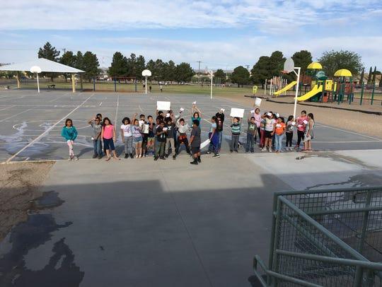 Third graders at Valley View Elementary School reenact