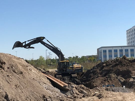 Development activity is booming in the Tradition Center for Commerce.
