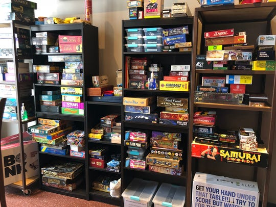 Oak & Shield Pub has a bevy of board games that customers