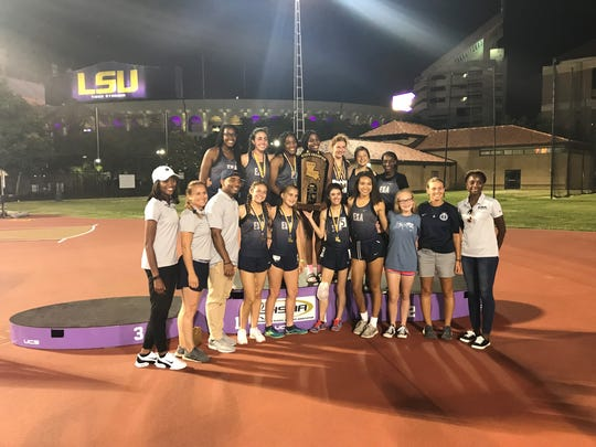 The ESA girls won the Class B state track and field