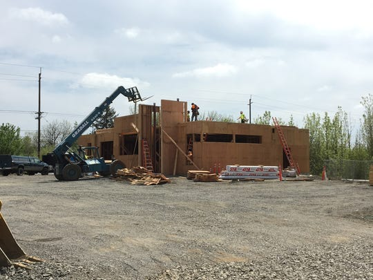 Construction of a new Space Age gas station and convenience store at 1570 Whitaker Drive SE in Salem, Oregon, on May 4, 2018.