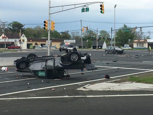 Brick crash at Routes 70 and 88 causes injuries