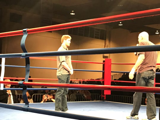 Zach Smith, left,is the Nevada Boxing Hall of Fame