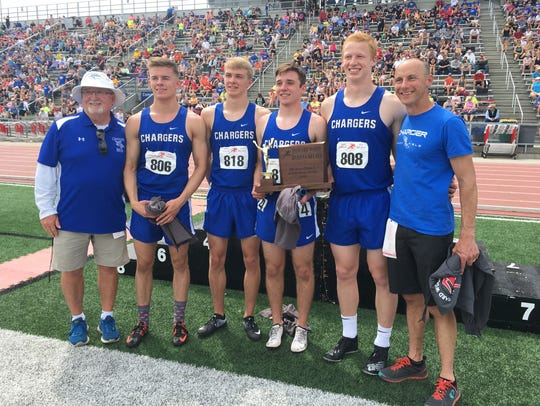 Sioux Falls Christian's record-setting 4x200 meter