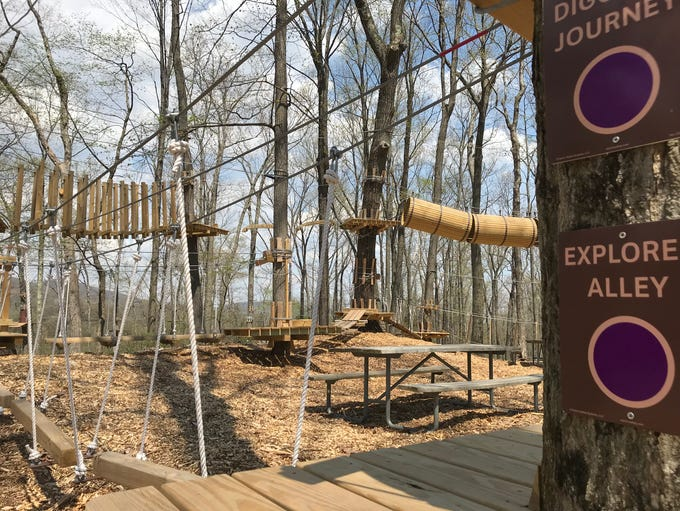 The TreEscape Aerial Adventure Ropes Course at Mountain