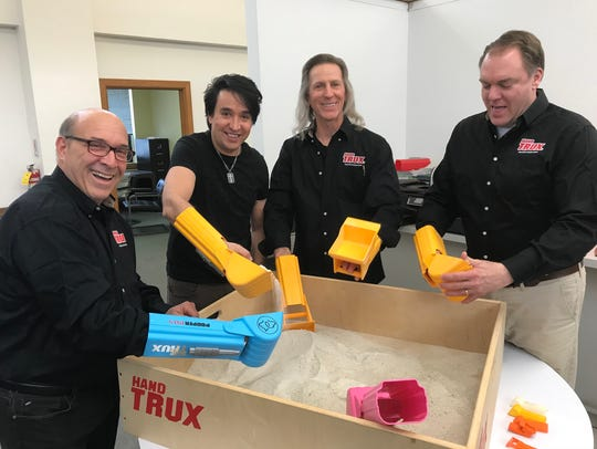 The Hand Trux team, l-r, David Fingerroth, Jorge Anunciacao,