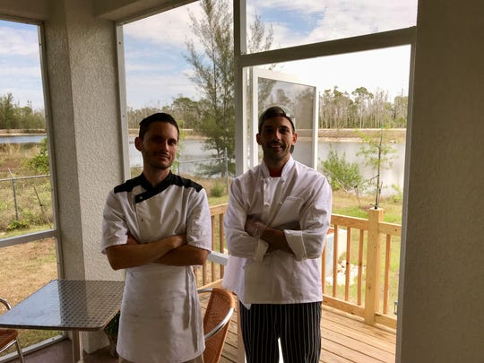 Brothers Thomas, left, and Florent Brunet own the French bakery Pine Island Getaway Cafe.