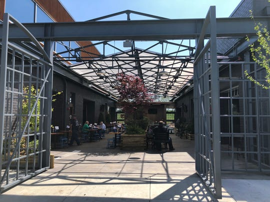 The beer garden and outdoor event space is shared among