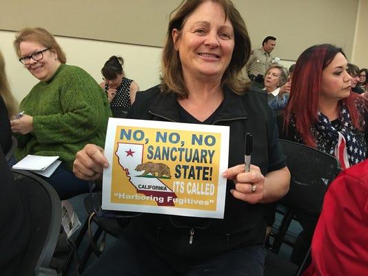 California sanctuary state laws protest