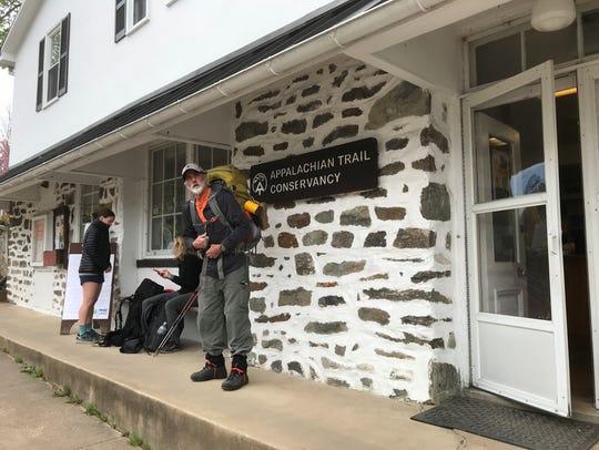 Kent Dykes' hiking buddy, Hal Black, along the Appalachian