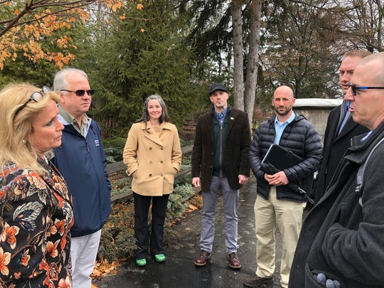 Michigan Congresswoman Debbie Dingell (left) meets with conservation, and hunting and angling leaders.