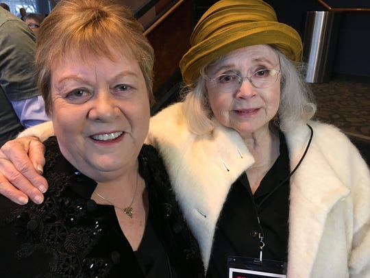 """Des Moines native film producer Jan Miller Corran, left, with actress Piper Laurie, who stars in the film  """"Snapshots."""" It's based on Corran's semi-autobiographical screenplay."""