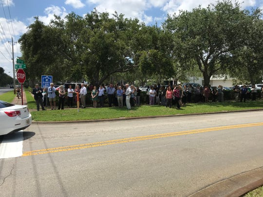 The Indian River County Courthouse was evacuated after