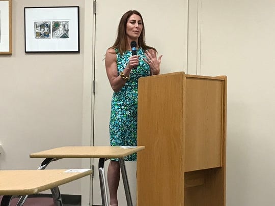 Danielle Prieto runs for a seat on the Millburn Board of Education in May 2018 that was vacated by board member by Michael King.