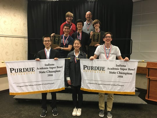 The math and science teams from the Indiana Academy