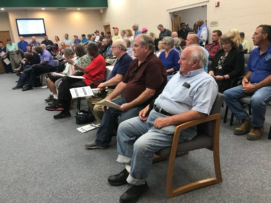 There was a standing-room only crowd at Milton City Hall as the Milton City Council considered an ordinance allowing free-standing bars and taverns downtown. The ordinance passed in a 5-4 during a city council meeting on Tuesday, May 8, 2018.