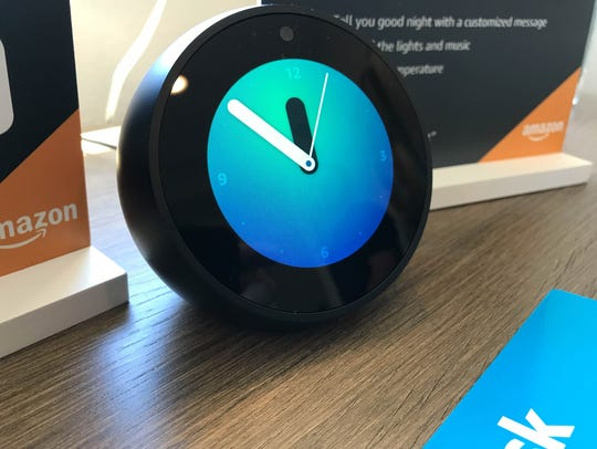 An Amazon Echo Dot in the bedroom of an Amazon Experience Center at a Lennar home development in Vallejo, Calif.  The homes all come with Wi-Fi, smart thermometers, lighting, doorbells and locks pre-installed, and Amazon's voice-activated Alexa personal assistant devices to run them. The experience offers customers the chance to interact with the technology in a real-life setting.