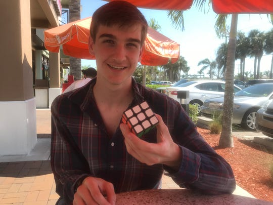 Jack Ciabaton, 2018 graduate of Community School of Naples, can solve Rubik's Cube in less than one minute.