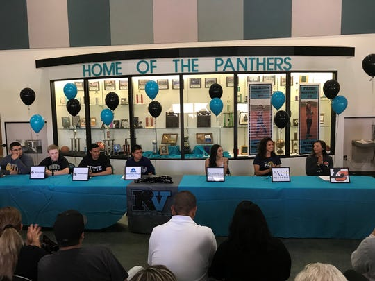 North Valleys had seven sign for college athletics
