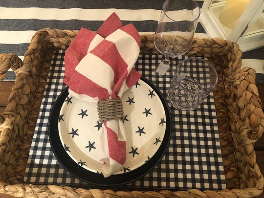 Festive place settings are fun all summer long, not just on the Fourth of July.