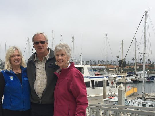 Cherryl, Mark and Lillian Connally stand outside Island Packers Ventura harbor base.