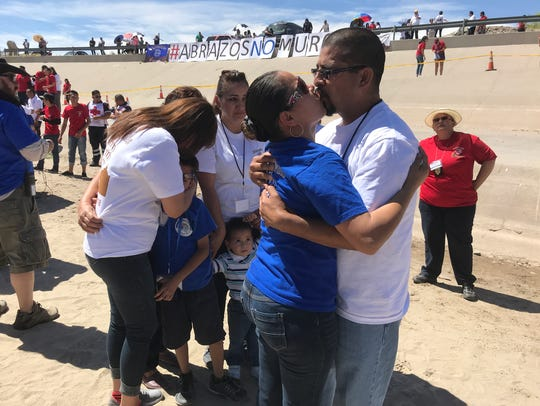 Nancy Murillo reunited with her husband Ivan Martinez,