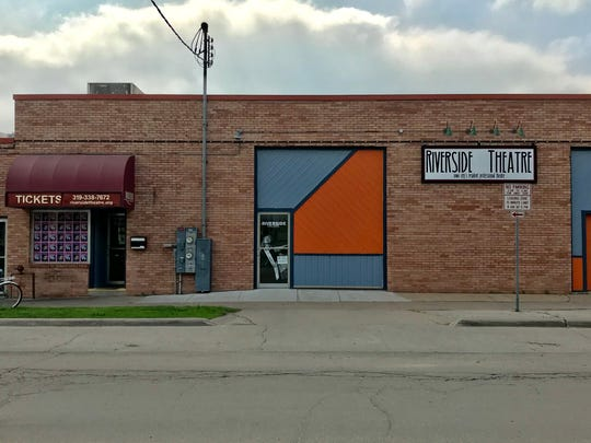 Riverside Theatre is shown at 213 N. Gilbert St. in