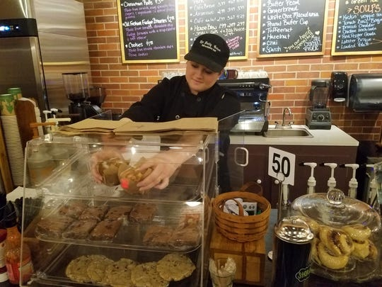 Owner Tara Gore bakes all the muffins, brownies, cinnamon rolls, cookies and more at The Daily Grind from scratch.