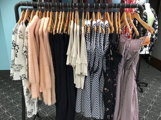 A selection of clothing from Belle Row Boutique.