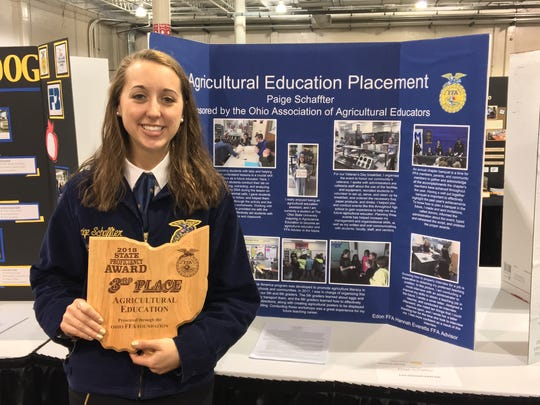 Paige Schaffter of the Edon FFA Chapter placed third