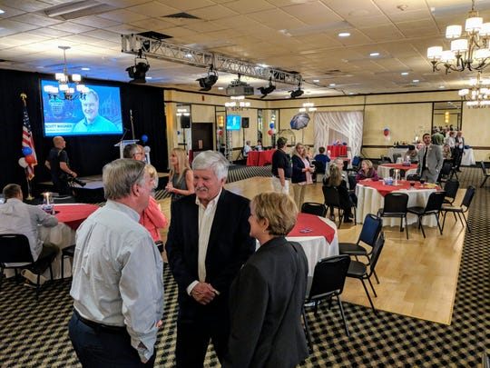 Supporters are gathered in York County for Scott Wagner's campaign.