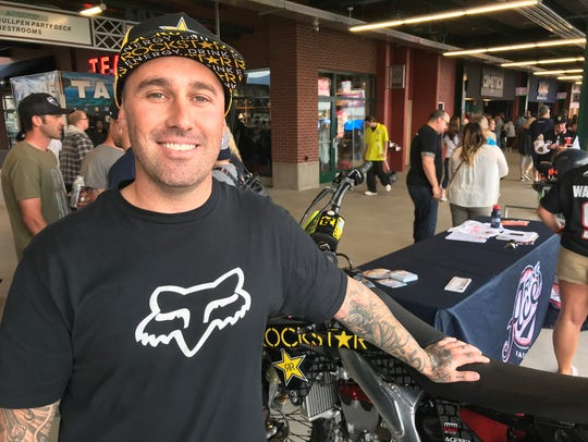 Mike Mason, from Minden, will ride in the freestyle motocross Nitro Circus tour stop on Friday at Greater Nevada Field.