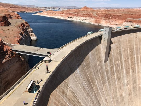 Glen Canyon Dam, built in the late 1950s and early
