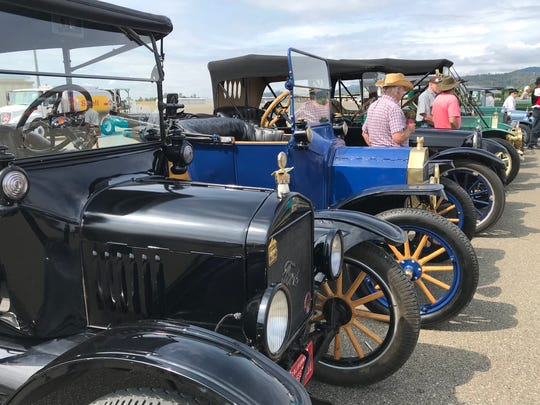 There was a vintage car show, too, at Benton Airpark.